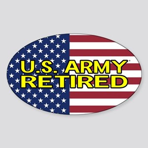 U.S. Army: Retired (American Flag) Sticker