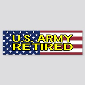 U.S. Army: Retired (American Flag) Bumper Sticker