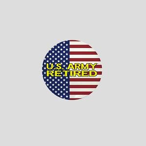 U.S. Army: Retired (American Flag) Mini Button