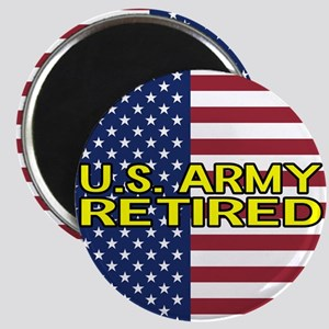 U.S. Army: Retired (American Flag) Magnets