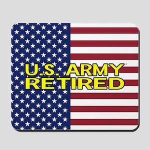 U.S. Army: Retired (American Flag) Mousepad