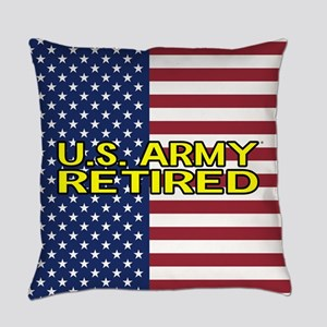U.S. Army: Retired (American Flag) Everyday Pillow