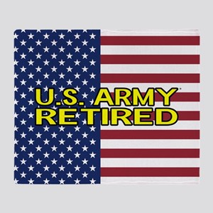 U.S. Army: Retired (American Flag) Throw Blanket
