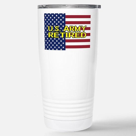 U.S. Army: Retired (American Flag) Travel Mug