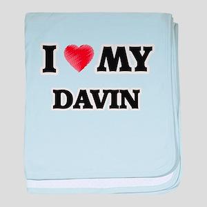I love my Davin baby blanket