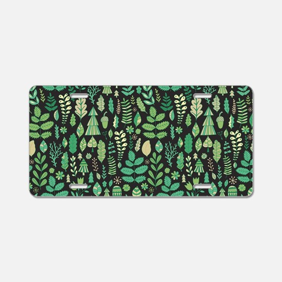 Forest Pattern Aluminum License Plate