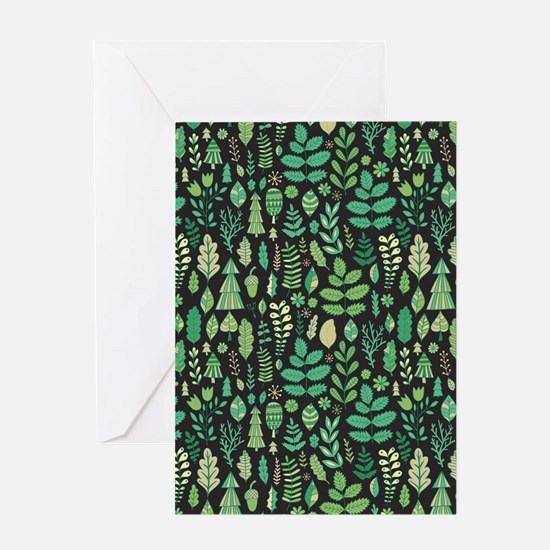 Forest Pattern Greeting Cards