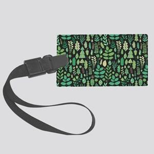 Forest Pattern Luggage Tag