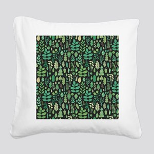 Forest Pattern Square Canvas Pillow