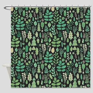Forest Pattern Shower Curtain
