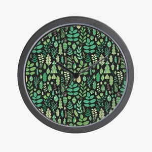 Forest Pattern Wall Clock