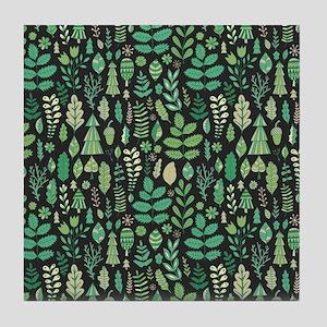 Forest Pattern Tile Coaster
