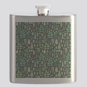 Forest Pattern Flask