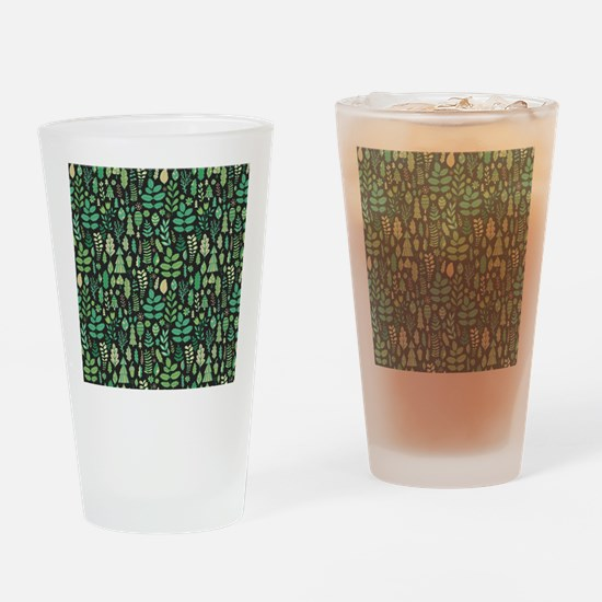 Forest Pattern Drinking Glass