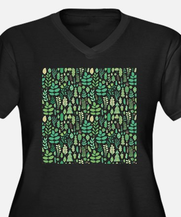 Forest Pattern Plus Size T-Shirt