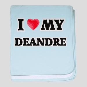 I love my Deandre baby blanket
