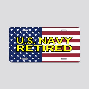 ad040bceaf11 U.S. Navy  Retired (America Aluminum License Plate