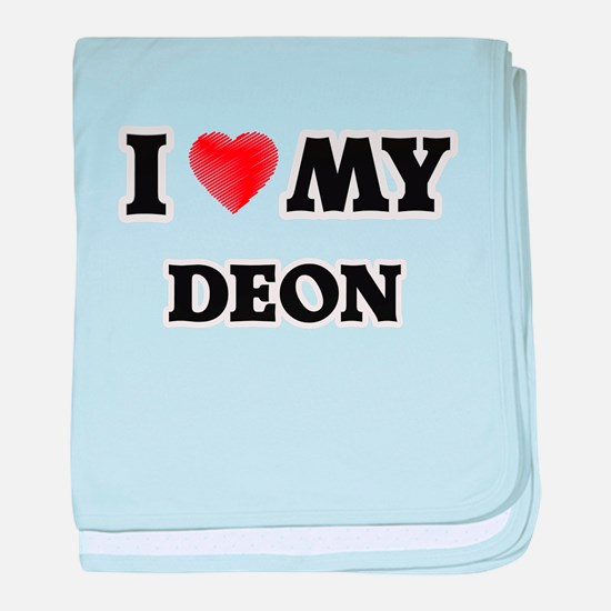 I love my Deon baby blanket