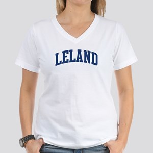 LELAND design (blue) Women's V-Neck T-Shirt