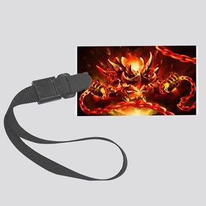 Lava god Large Luggage Tag