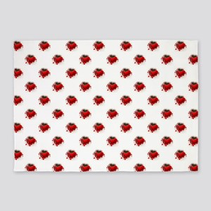 RED HEART CUP 5'x7'Area Rug