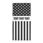 Personalize Us Flag Beach Towel