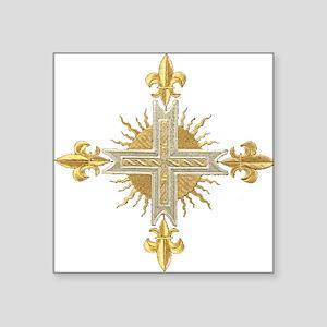 French Cross Sticker
