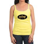 Shalom In Hebrew Jr. Spaghetti Tank