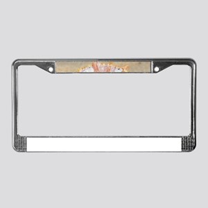 holiday mood, major Asian clam License Plate Frame