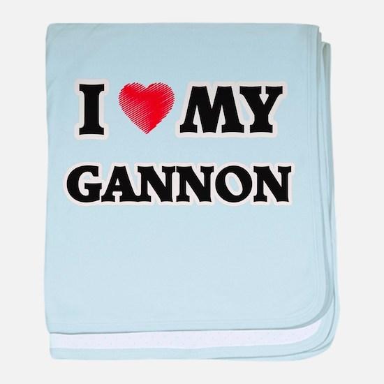 I love my Gannon baby blanket