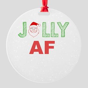 Jolly AF Round Ornament