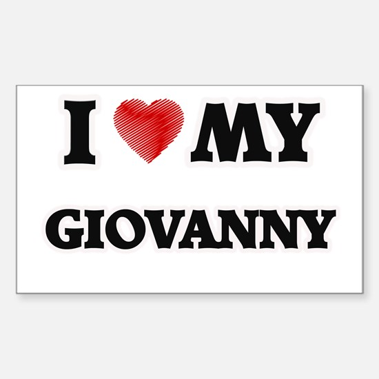 I love my Giovanny Decal