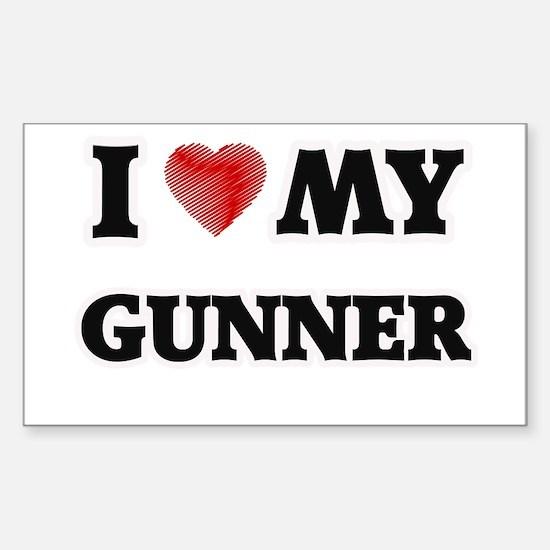I love my Gunner Decal