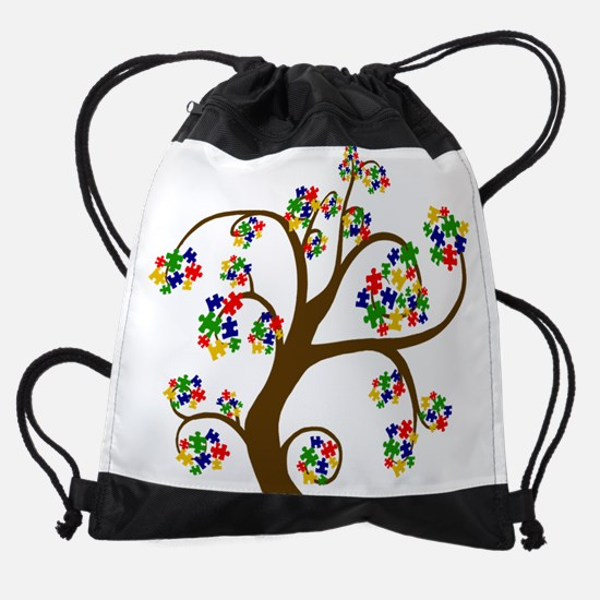 Puzzled Tree of Life Drawstring Bag