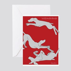 3WeimsRedTrans Greeting Cards