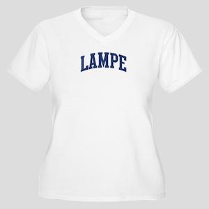 LAMPE design (blue) Women's Plus Size V-Neck T-Shi