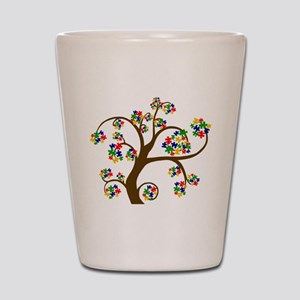 Puzzled Tree of Life Shot Glass