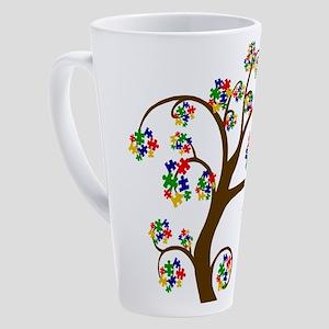 Puzzled Tree of Life 17 oz Latte Mug