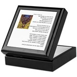Prayer of st francis Square Keepsake Boxes