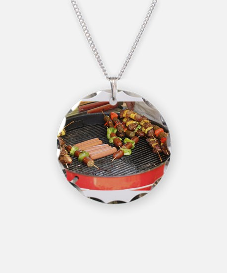 barbeque grill with with hot Necklace