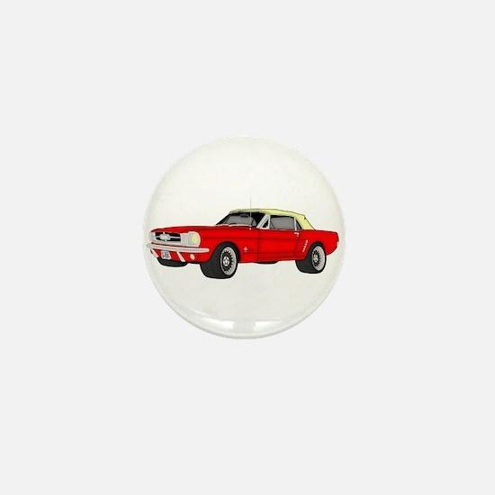 Mustang car Mini Button