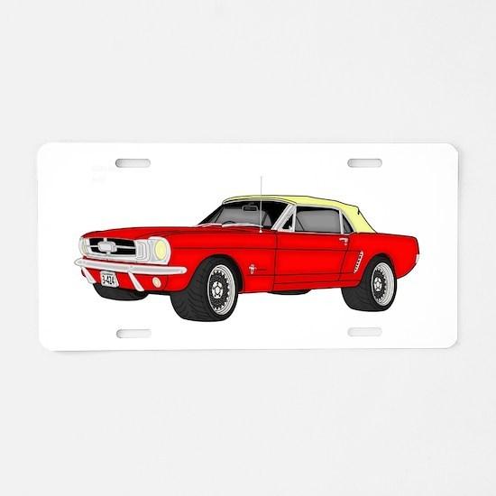 Mustang car Aluminum License Plate