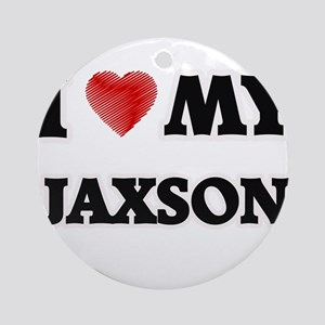 I love my Jaxson Round Ornament