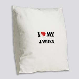 I love my Jayden Burlap Throw Pillow