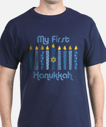 1st Hanukkah Candles T-Shirt