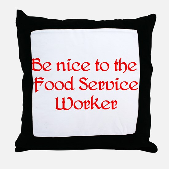 Food Service Worker Throw Pillow