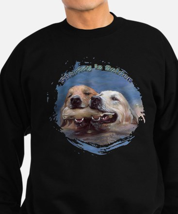 Golden Retriever - Sharing i Sweatshirt