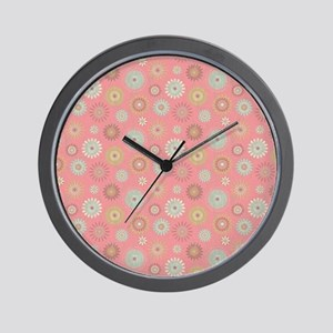 Pressed Garden Flowers Country Chic Wall Clock
