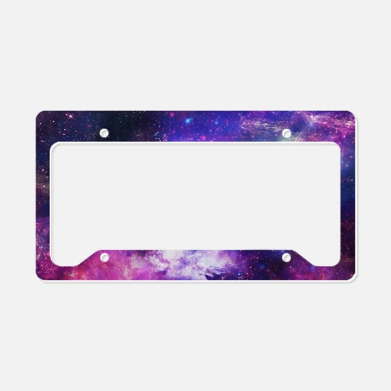 Cute Black orange License Plate Holder