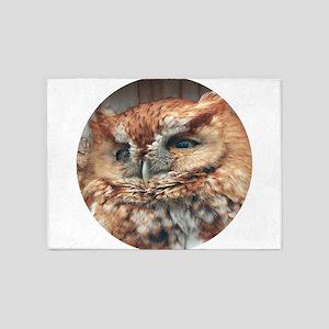 Rufous Screech Owl 5'x7'Area Rug
